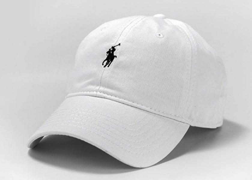Кепка - бейсболка Polo Ralph Lauren (Поло Ральф Лорен) белого цвета.